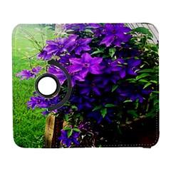 Purple Flowers Samsung Galaxy S  III Flip 360 Case