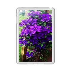 Purple Flowers Apple Ipad Mini 2 Case (white)