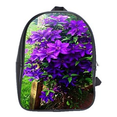 Purple Flowers School Bag (XL)