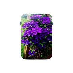 Purple Flowers Apple Ipad Mini Protective Sleeve