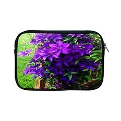 Purple Flowers Apple iPad Mini Zippered Sleeve