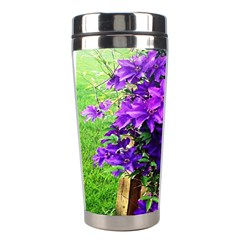 Purple Flowers Stainless Steel Travel Tumbler