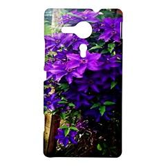 Purple Flowers Sony Xperia SP M35H Hardshell Case