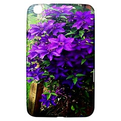 Purple Flowers Samsung Galaxy Tab 3 (8 ) T3100 Hardshell Case