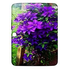 Purple Flowers Samsung Galaxy Tab 3 (10.1 ) P5200 Hardshell Case