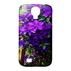 Purple Flowers Samsung Galaxy S4 Classic Hardshell Case (PC+Silicone)