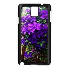 Purple Flowers Samsung Galaxy Note 3 N9005 Case (Black)