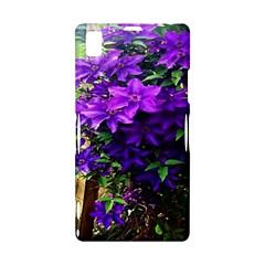 Purple Flowers Sony Xperia Z1 L39H Hardshell Case