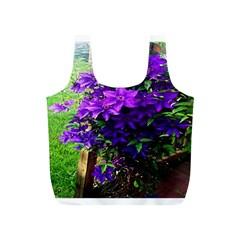 Purple Flowers Reusable Bag (S)