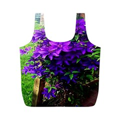 Purple Flowers Reusable Bag (M)
