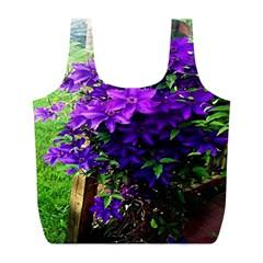 Purple Flowers Reusable Bag (L)