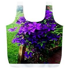 Purple Flowers Reusable Bag (XL)