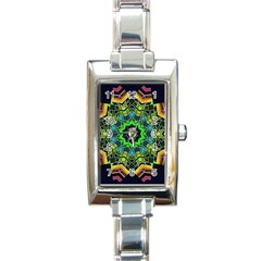 Big Burst Rectangular Italian Charm Watch