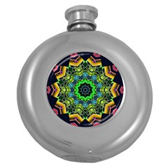 Big Burst Hip Flask (Round)