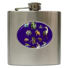 Dino Family 1 Hip Flask