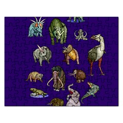 Dino Family 1 Jigsaw Puzzle (Rectangle)