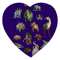 Dino Family 1 Jigsaw Puzzle (Heart)