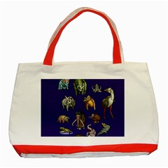 Dino Family 1 Classic Tote Bag (Red)