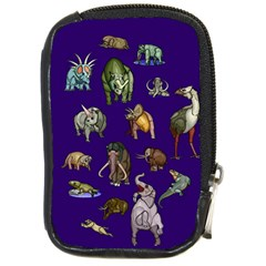 Dino Family 1 Compact Camera Leather Case