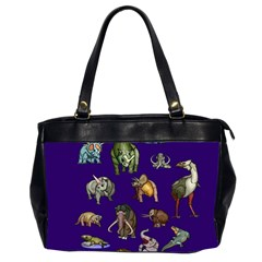 Dino Family 1 Oversize Office Handbag (two Sides)