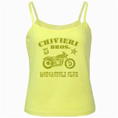 Chivieri Bros  Motorcycle Club Yellow Spaghetti Tank