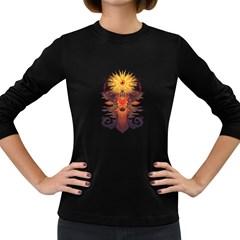 EYEDEER Women s Long Sleeve T-shirt (Dark Colored)