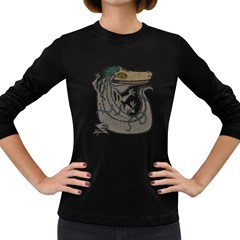 Miwitu The Crocodile Women s Long Sleeve T Shirt (dark Colored)