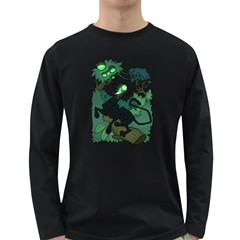 Acid Panther With Berries Men s Long Sleeve T Shirt (dark Colored)