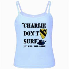 Charlie Don t Surf Baby Blue Spaghetti Tank