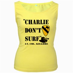 Charlie Don t Surf Women s Tank Top (Yellow)