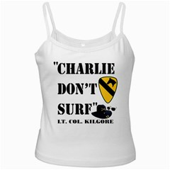 Charlie Don t Surf White Spaghetti Top