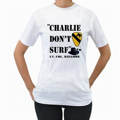 Charlie Don t Surf Women s T-Shirt (White)