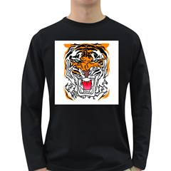 TIGER  Men s Long Sleeve T-shirt (Dark Colored)