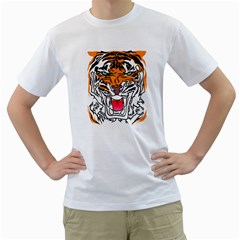 TIGER  Men s T-Shirt (White)