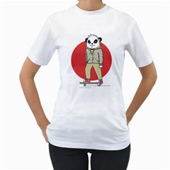 Cute Skater Women s T-Shirt (White)
