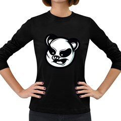 Badass Panda Women s Long Sleeve T-shirt (Dark Colored)