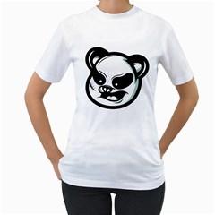 Badass Panda Women s T-Shirt (White)