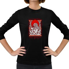 Red Moon Zombie Women s Long Sleeve T-shirt (Dark Colored)