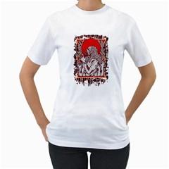 Red Moon Zombie Women s T-Shirt (White)