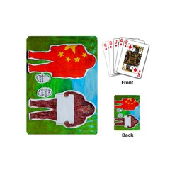 2 Yeh Ren,text & Flag In Forest  Playing Cards (Mini)