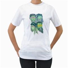 Fungky Teenage Mutant  Ninja Turtle Women s T-Shirt (White)