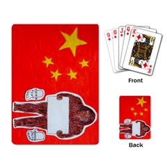 Yeh Ren Text On Chinese Flag  Playing Cards Single Design