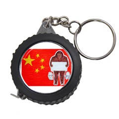 Yeh Ren Text On Chinese Flag  Measuring Tape