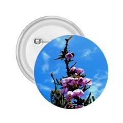 Pink Flower 2.25  Button
