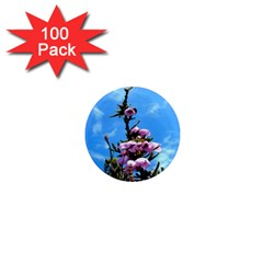 Pink Flower 1  Mini Button Magnet (100 pack)