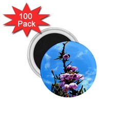 Pink Flower 1.75  Button Magnet (100 pack)