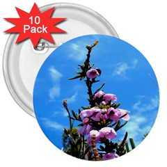 Pink Flower 3  Button (10 pack)