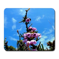 Pink Flower Large Mouse Pad (Rectangle)