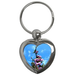 Pink Flower Key Chain (Heart)