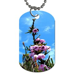 Pink Flower Dog Tag (one Sided)